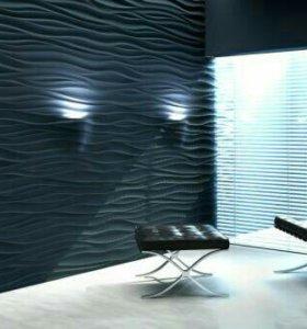 Панель стеновая пвх 2700x240x7мм Голубой перламутр