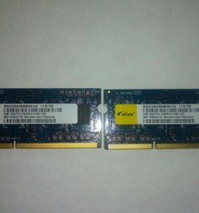 Оперативная память на ноутбук 4Gb