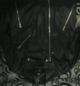 Кожанная куртка h&m