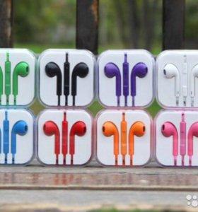 Наушники на IPhone EarPods цветные