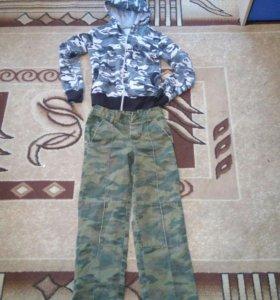 Комуфляжные штаны+трикотажная кофта