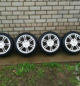 Литые диски r16 racing wheels h-104