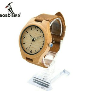 Деревянные часы Bobo Bird 0431 с кожаным ремешком