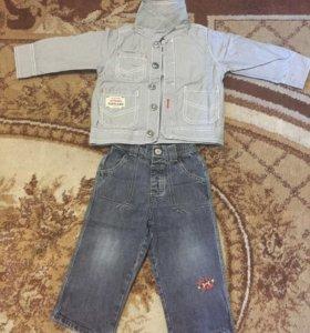 Джинсовая курточка и джинсы