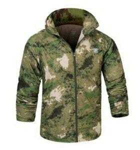 Летняя куртка-ветровка с капюшоном 50-52 новая