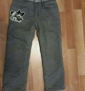 Утепленные брюки на флисе