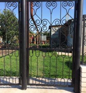Фигурные въездные ворота