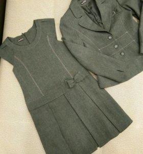 Школьная одежда: жакет и сарафан