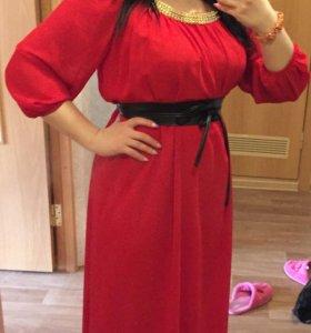 Шикарное шифоновое платье, новое!!!
