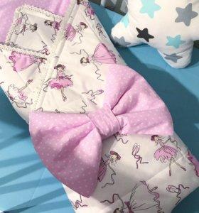Конверт-одеяло на выписку осень зима, шью на заказ