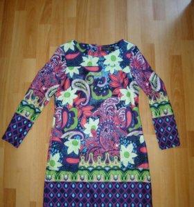 Платье мини цветное
