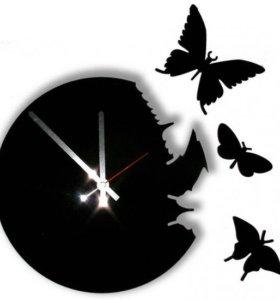 """Дизайнерские часы """"Бабочки"""""""