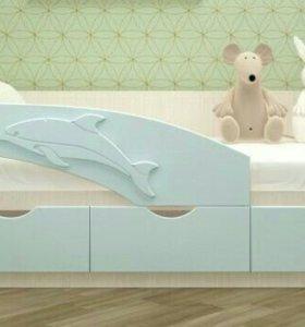 Кровать с ящиками детская