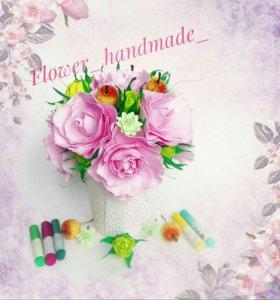 Композиция из цветов, цветы, интерьер