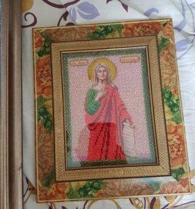 картины,иконы ручной работы из бисера.