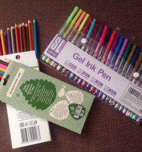 Гелевые ручки и карандаши