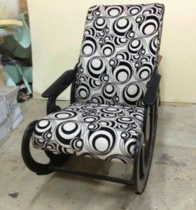 Кресло качалка Стандарт, рогожка+микровелюр 52