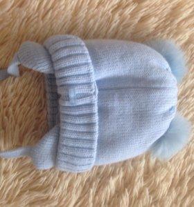 Шапочка зимняя для новорождённых