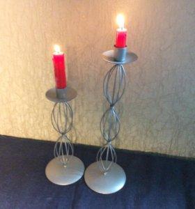 Подсвечники свечи 25 и 35 см