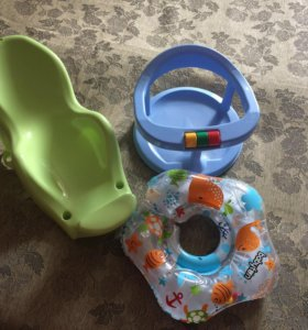 Горка для купания, круг и стульчик