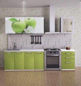 Кухонный гарнитур НОВЫЙ  1,8м с фотопечатью