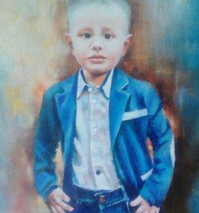 Живописное изображение вашего ребенка