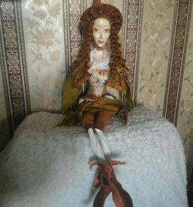 Будуарная кукла ручной работы.