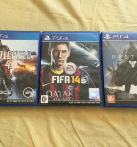 Игры playstation 4:battlefield 4, fifa14, destiny