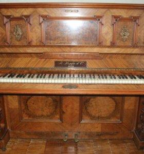 Антикварное немецкое пианино R.hupfer zeitz 2797