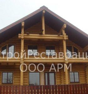 Рубленные деревянные дома, бани, срубы
