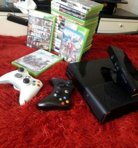 Xbox 360 ( +22 диска,2 геймпада ,кинект)