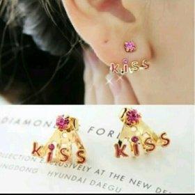Серьги kiss 😍
