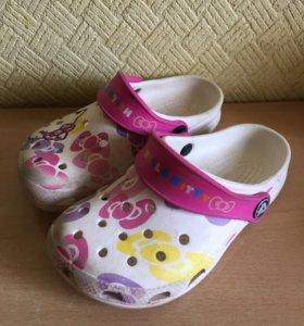 Шлёпки Crocs Кроксы для девочки