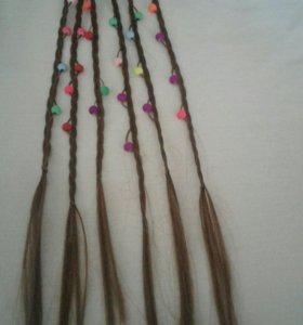 Заколки.Косички для волос