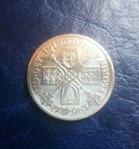 Англия Флорин 1929 год серебро