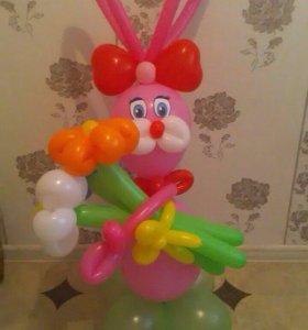 Зайчик из воздушных шаров
