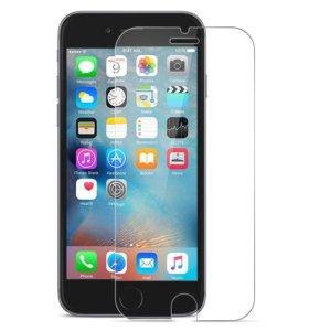 Защитное стекло для iPhone 5, 5S, 6, 6s и 7.