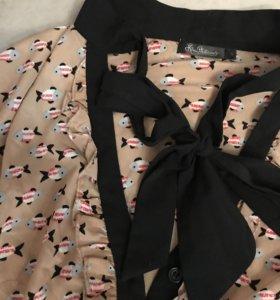 Стильная блузка с бантом
