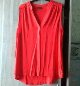 Струящаяся вискозная блузка 52