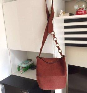 Кожаная сумка Mango