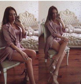 Комплект (платье с накидкой)