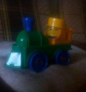 Конструктор автотрасса и железная дорога Bauer