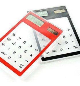 Прозрачный калькулятор на солнечной батарее