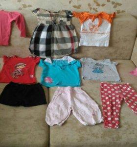 Пакет одежды на девочку 1-1,5 года