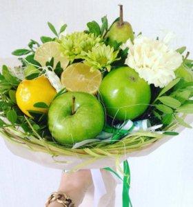 Подарки. Фруктово-овощные букеты