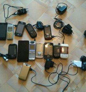 Телефоны нерабочие на запчасти(некоторые рабочие)