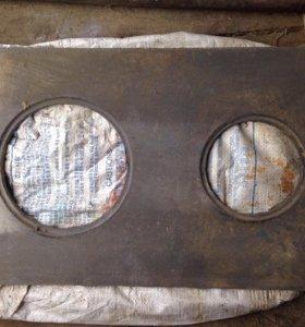 Плита чугунная 2-ух комфорочная. Есть круги.