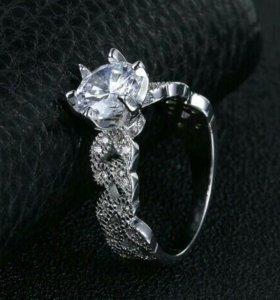 Серебрянное кольцо с кубич.цирконием