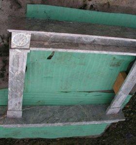 Камин , мраморный портал