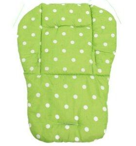 Матрасик, вкладыш в коляску, стульчик Зелёный